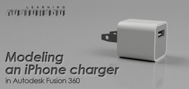 USB Charger logo Fusion 360